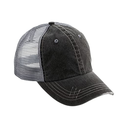 021940632bfc4 MG Low Profile (Unstructured) Cotton Twill Mesh Cap-6990-BLACK at ...