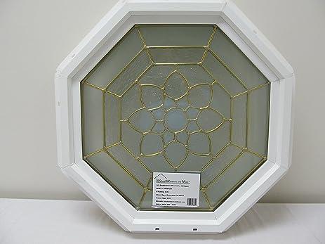 Octagon Cut Glass Window Decorative 22\