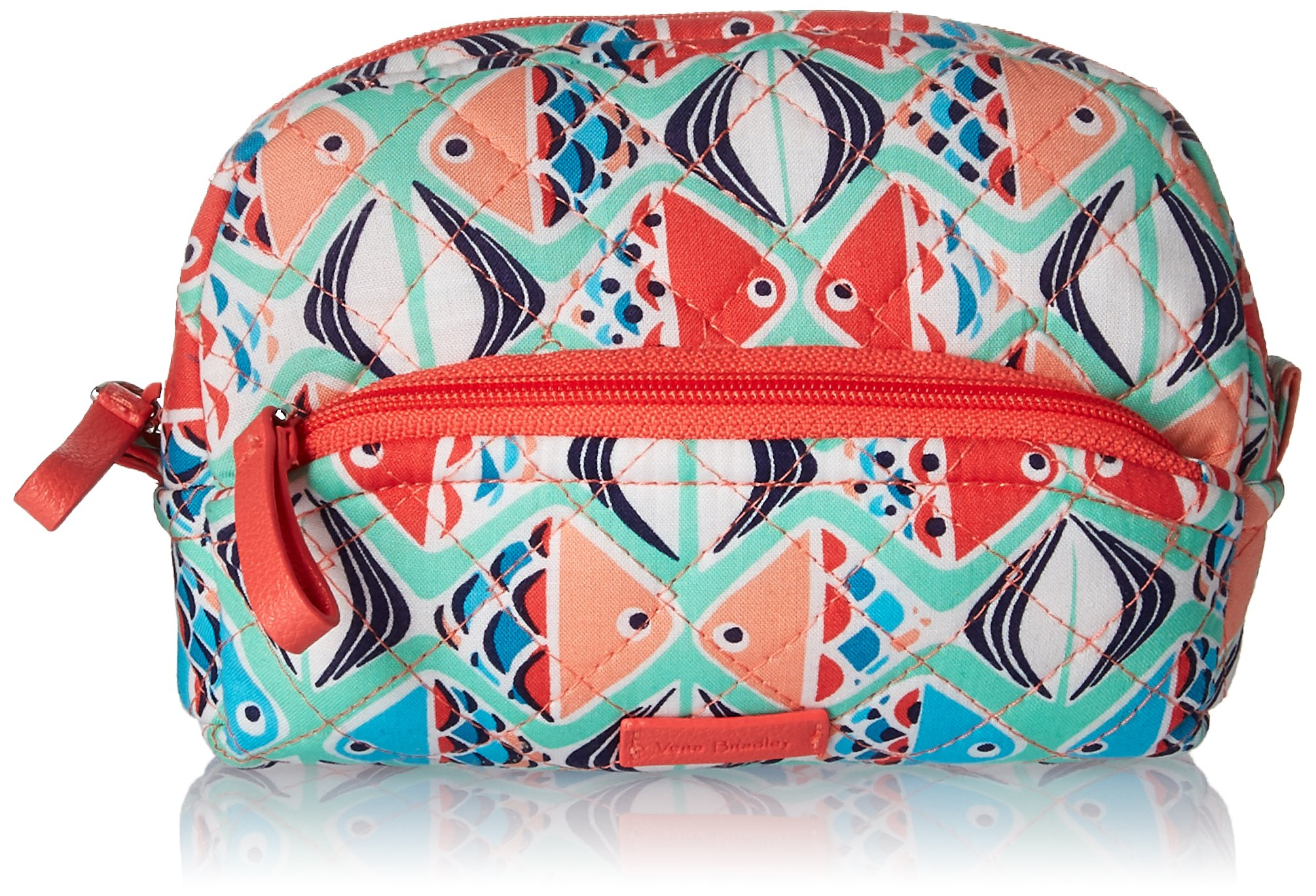 Vera Bradley Iconic Mini Cosmetic, Signature Cotton, Go Fish, One Size