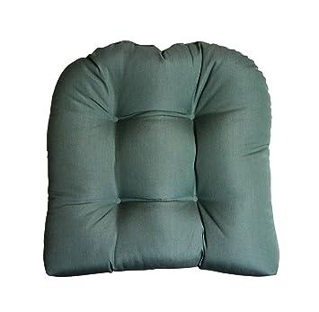 amazon com sunbrella canvas spa blue large wicker chair cushion