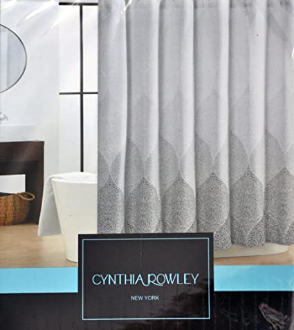Image Unavailable Not Available For Color Cynthia Rowley Stamped Ombre Black Gray White Shower Curtain