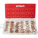 Amtech S6195 Copper Washer Set, Clear, 110-Piece