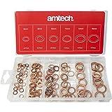 Am-Tech - Juego de arandelas de cobre (110 unidades)