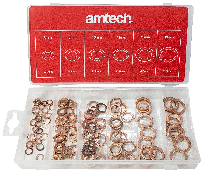 S6195 Am-Tech 110 piezas de cobre Arandelas Conjunto