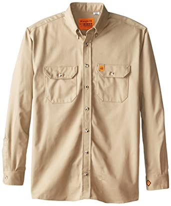 b40f5962 Amazon.com: Wrangler RIGGS WORKWEAR Men's Tall Shirt: Button Down Shirts:  Clothing
