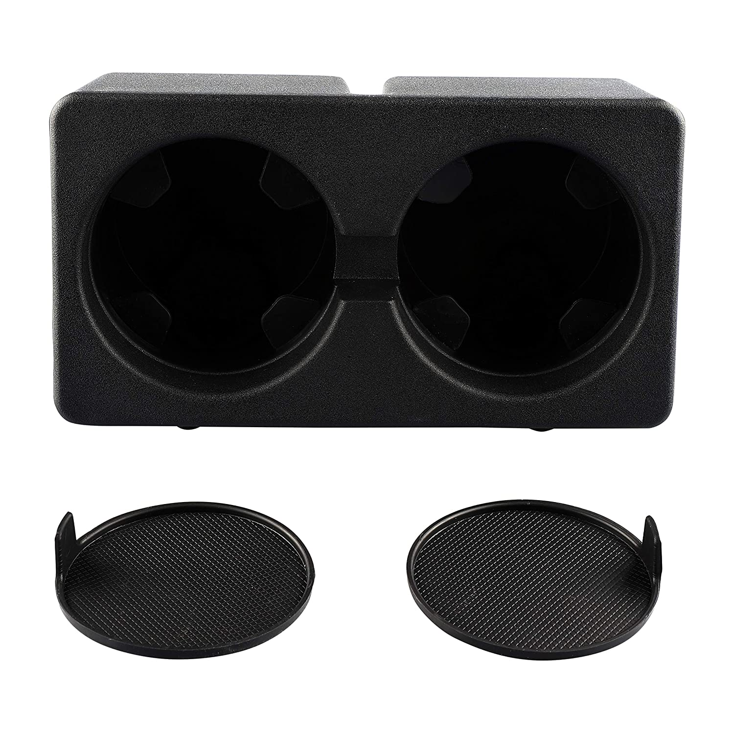 2007-2014 Suburban Replacement 19154712 Floor Mounted Center Console Beverage Drink I Sushiyi Gear Yukon Tahoe Sushiyi Dual Cup Holder Insert for Compatible with 2007-2013 Silverado Sierra 1500 2500HD 3500HD