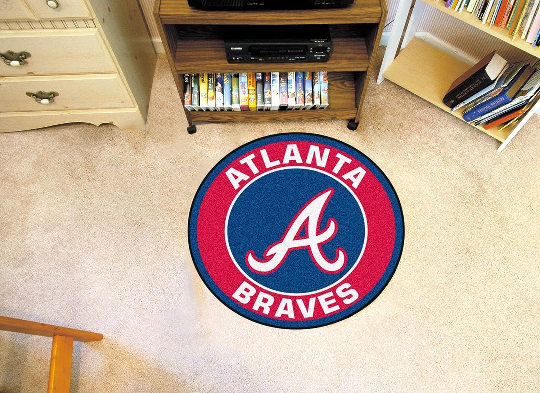 FANMATS Team Color 27 Diameter 18127 MLB-Atlanta Braves Roundel Mat
