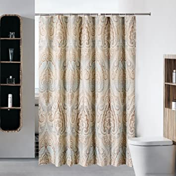 Sfoothome 72x 78 Fabric Shower Curtain Waterproof And Mildew Free Bath Curtains Heavy Weight European