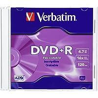 Verbatim AZO DVD+R 4.7GB 16X with Branded Surface - 10pk Slim Case