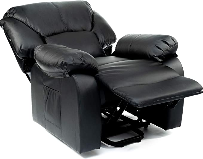 Reclinazione elettrica 160/º Beige ECODE Poltrona Massaggiante Relax Con Alzapersona Chamonix Vibro Ondulazione ECO-8590UP N Funzione Calore A++ Programmi Auto