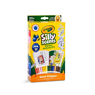 Crayola Silly Scents Marker Activity, Coloring Book and Markers, Gift: Toys & Games