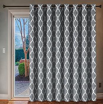 Amazoncom Hversailtex Wide Blackout Patio Door Curtain Home