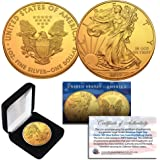 2019 1 Oz Silver $1 US NAVY EAGLE Coin WITH 24K GOLD GILDED.
