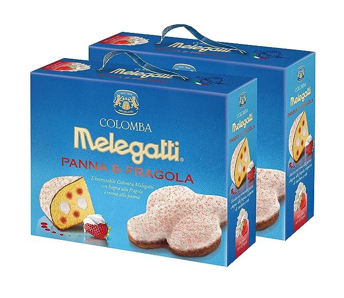Colomba Nata y Fresas Melegatti, Colomba Pasquale Sin Frutas Confitadas, Con Crema De Nata