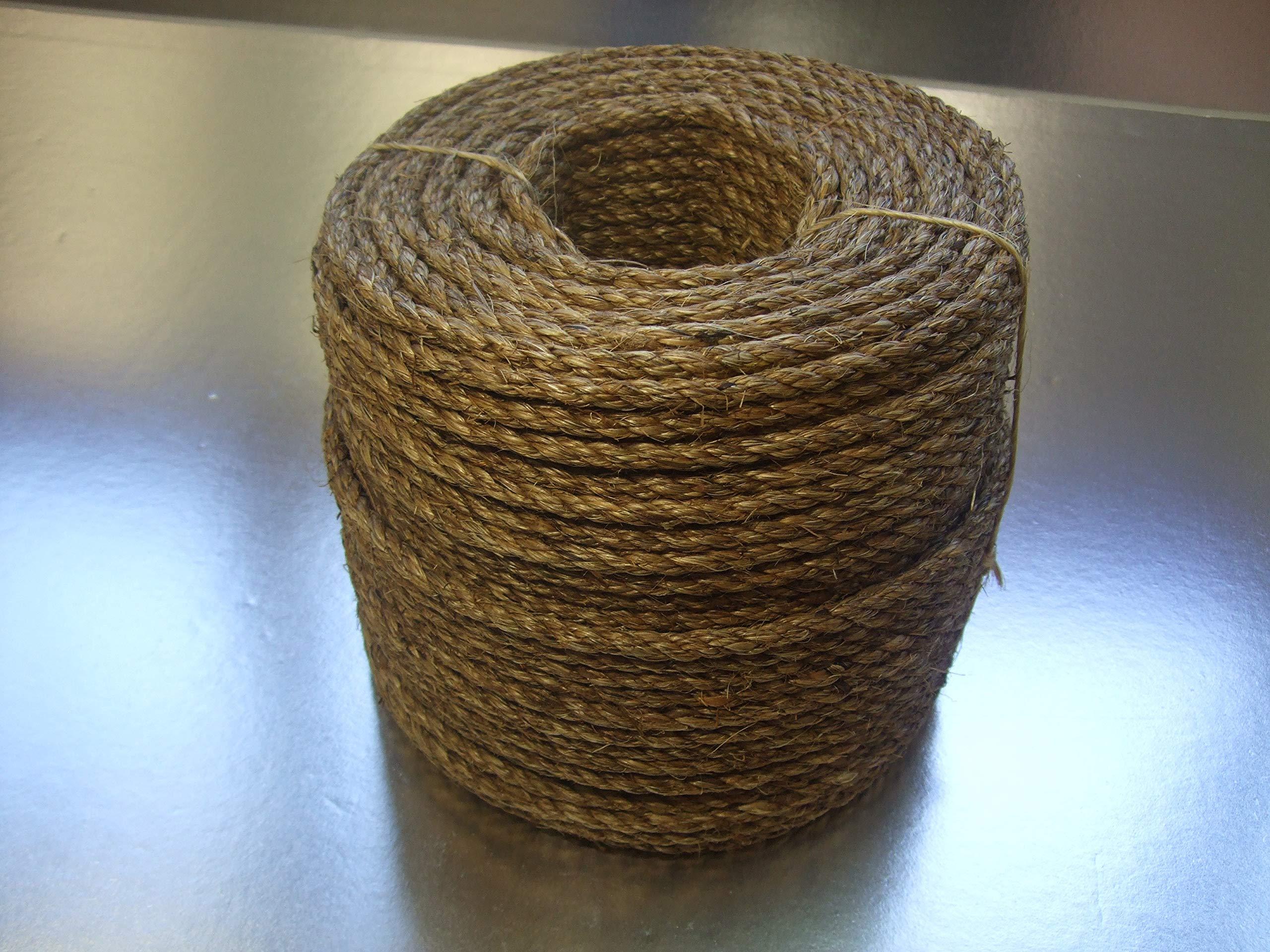 Manila Hemp Rope 3/8'' x 100' Coil Great White