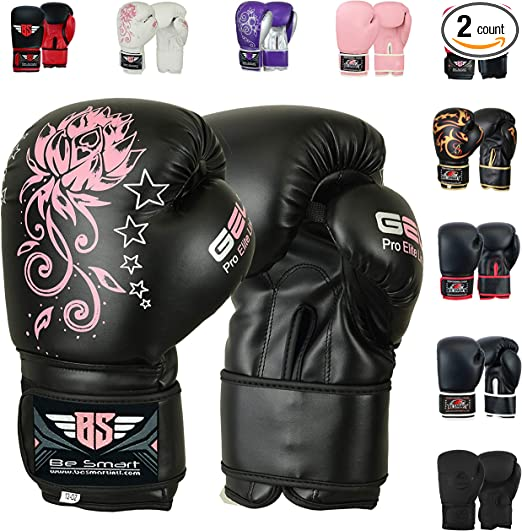 BOXING GLOVES Pink White 4oz 6oz 8oz 10oz 12oz For Kids and Adults FREE DELIVERY