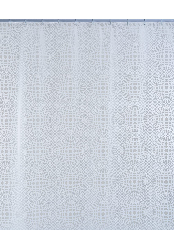 Shark 010/333101 Tenda Doccia, Vinile, 240 cm x Altezza 200 cm, Trasparente/Bianco CPE