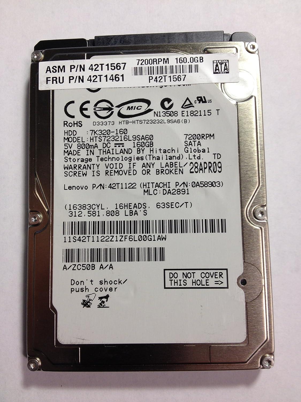 Renewed 160GB 7200 SATA Hard Drive 2.5 9M