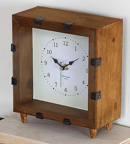 Rustic mantel clocks