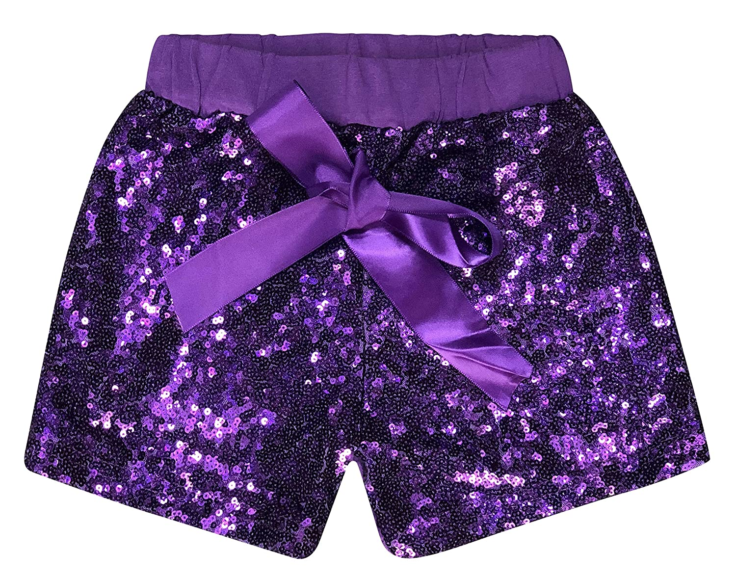 48143463a Amazon.com: ILTEX Baby Girls Short Sequin Pants Bottoms with Bow Toddler:  Clothing