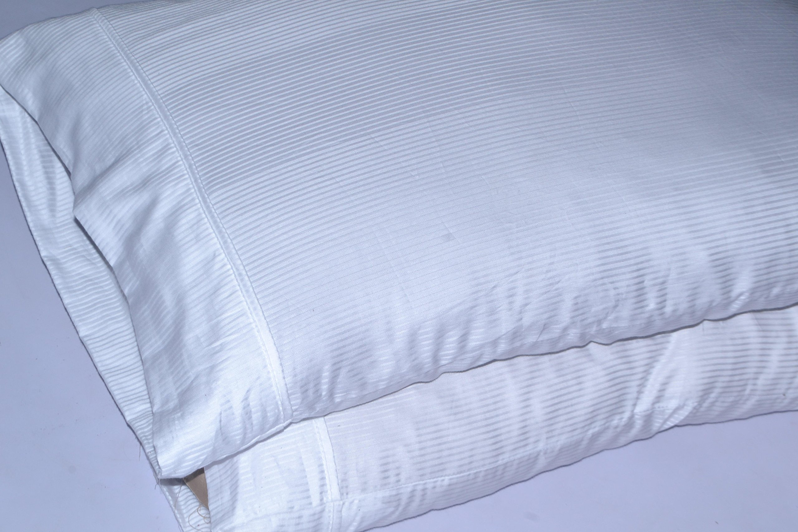King Size Sheets Luxury Soft Bamboo Sheets - Sheet Set for King Mattress White Pin Stripe 1000 Thread Count