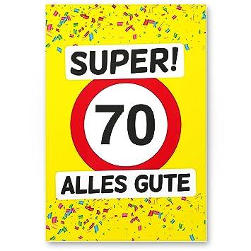 DankeDir!. 70 Alles Gute - Cartel de plástico (Amarillo ...