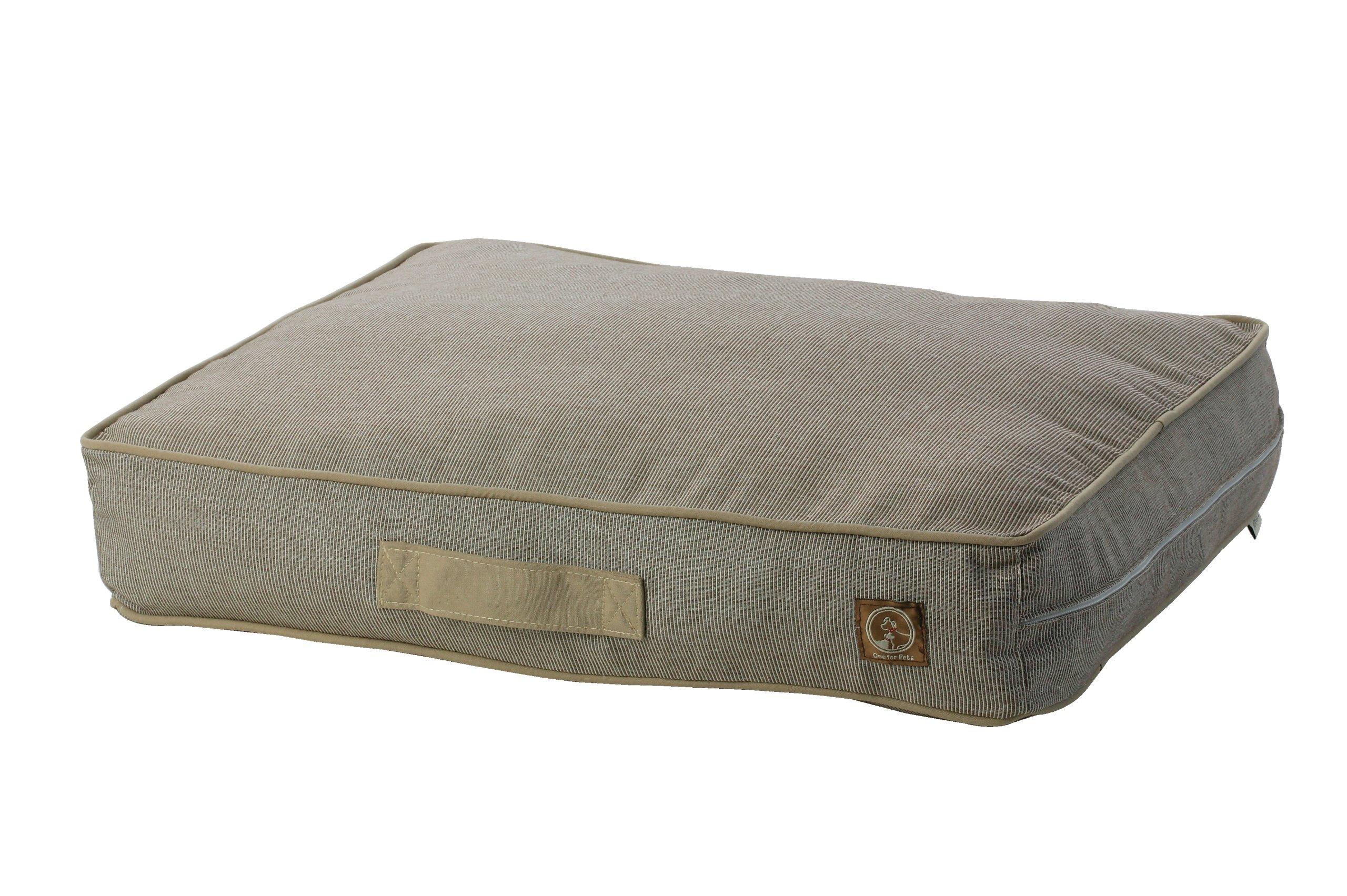 One for Pets Siesta Indoor/Outdoor Pet Bed Dog Bed Duvet Cover, Medium, Brown