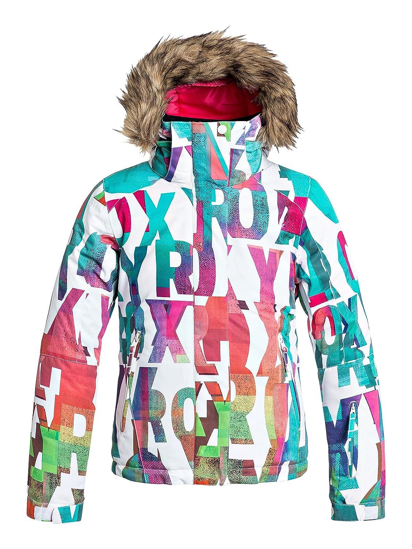 Roxy Jet Ski Girl - Chaqueta de nieve para niña, color blanco, talla 12/L