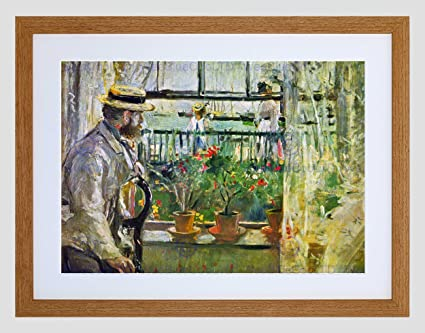 BERTHE MORISOT EUGENE MANET ON ISLE OF WIGHT OLD MASTER FRAMED PRINT B12X2387 Kunstplakate