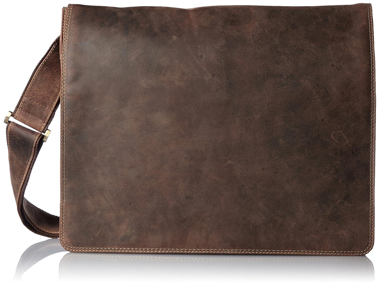 [ヴィスコンティ] VISCONTI フルフラップ 牛革ラージメッセンジャーバッグ HARVARD [XL] B0195RIZRI オイルタン