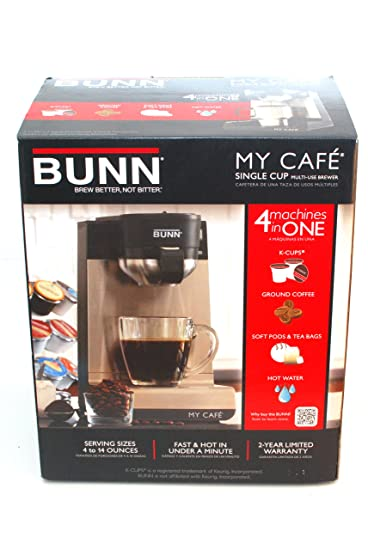 My Cafe Single Serve Brewers Stainless Steel Black [Bunmcu]