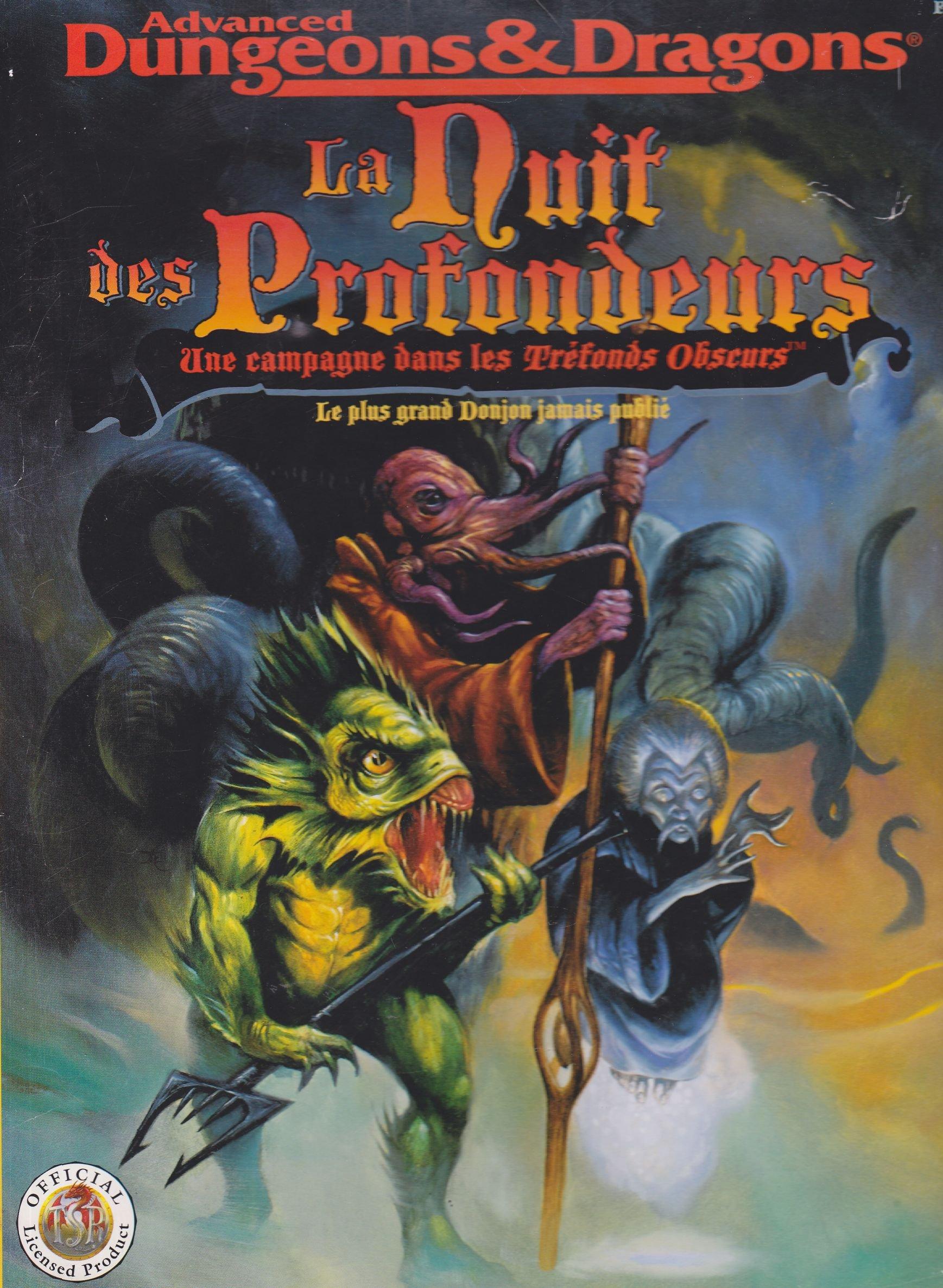 Advanced Dungeons & Dragons : La nuit des profondeurs, une campagne dans les tréfonds obscurs, le plus grand donjon jamais publié, Livre-Jeu Comic – 1995 Carl Sargent Descartes Jeux 2740801823