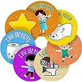 Potty Training Reward Sticker Labels, 70 Stickers @ 2.5cm, Glossy Photo Quality, Ideal for Children Parents Teachers Schools Doctors Nurses Opticians Pupils Classrooms Merit Motivation Praise