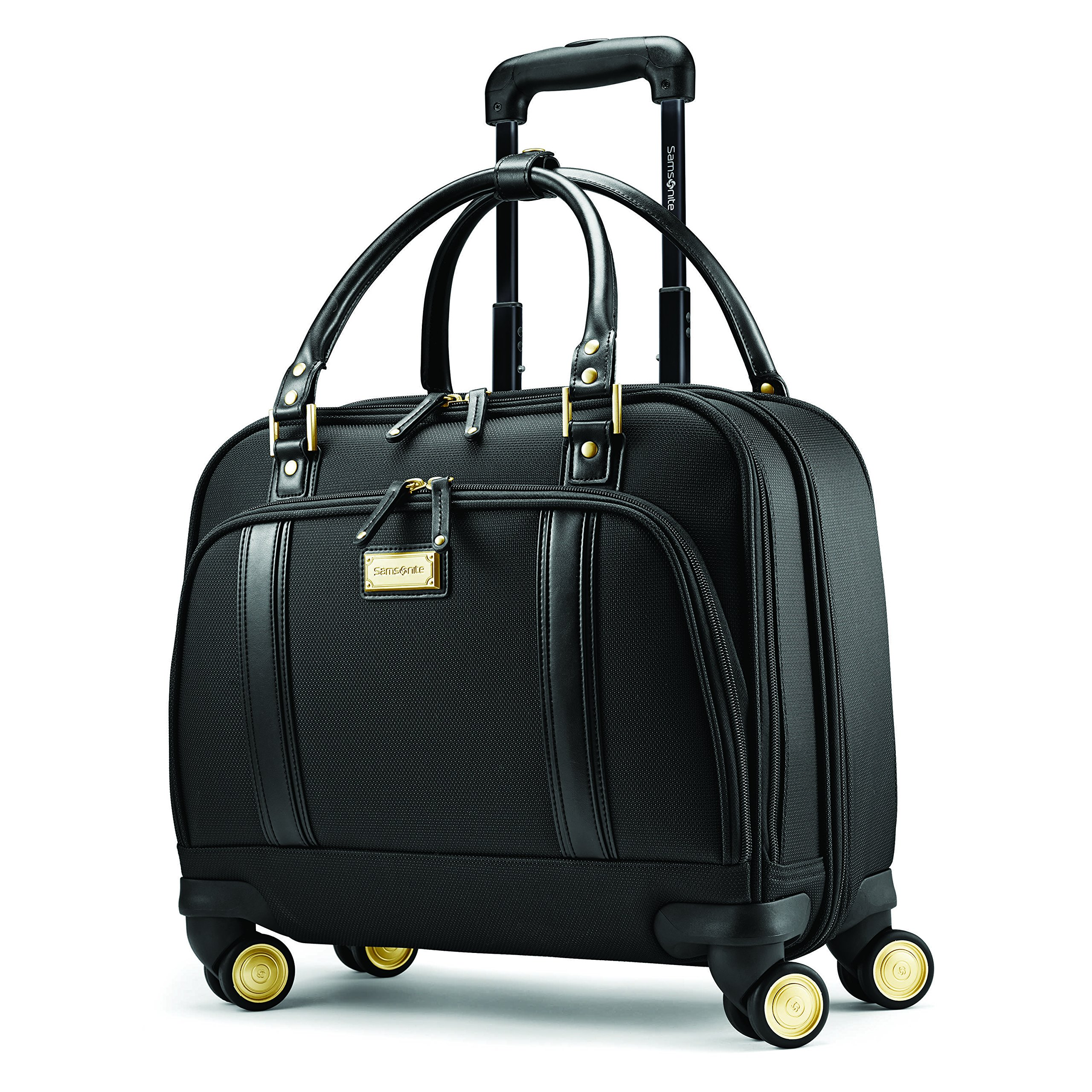 Samsonite Luggage Women's Spinner Mobile Office (One Size, Black/Gold) by Samsonite