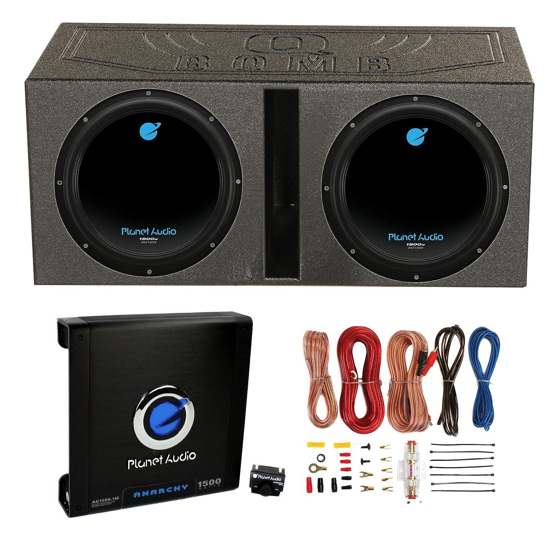 amazon com 2 planet audio 12 1800w subwoofers vented lined box rh amazon com Speaker Wiring Configurations wiring speaker box