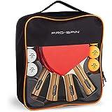 PRO SPIN Ping Pong Paddles - High-Performance Ping Pong Set | Premium Table Tennis Paddles, 3-Star Ping Pong Balls, Compact S