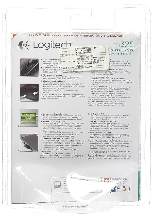 Amazon.com: Logitech 910-004165 M325 Wireless Mouse Bubbly: Computers & Accessories