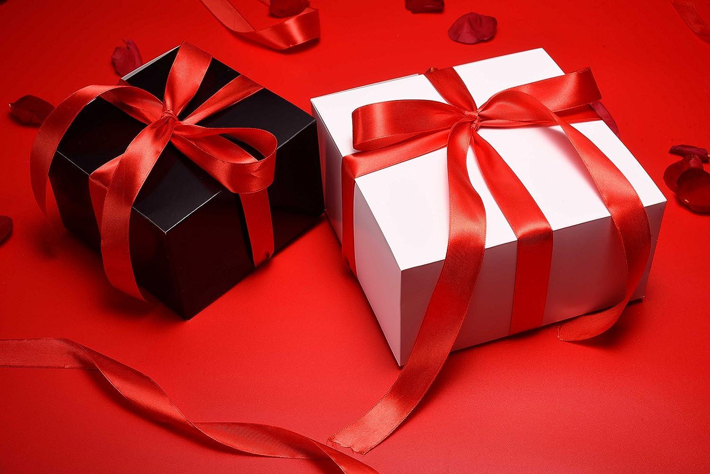 MESHA cajas de regalo 25 unidades 8 x 8 x 4 pulgadas, cajas de regalo de papel con tapas para regalos, manualidades, cajas para cupcakes: Amazon.es: Hogar