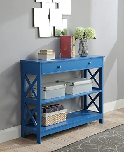 Convenience Concepts 203295BE Oxford Console Table, Blue