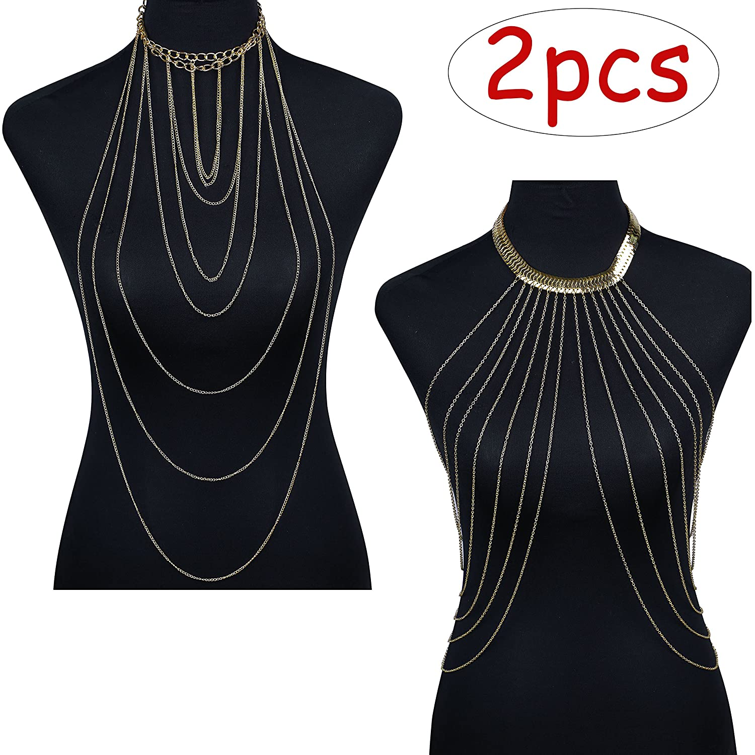 ba12c1c08c AFFORDABLE BODY JEWELRY SET-- One order you can get 2 different styles body  chain