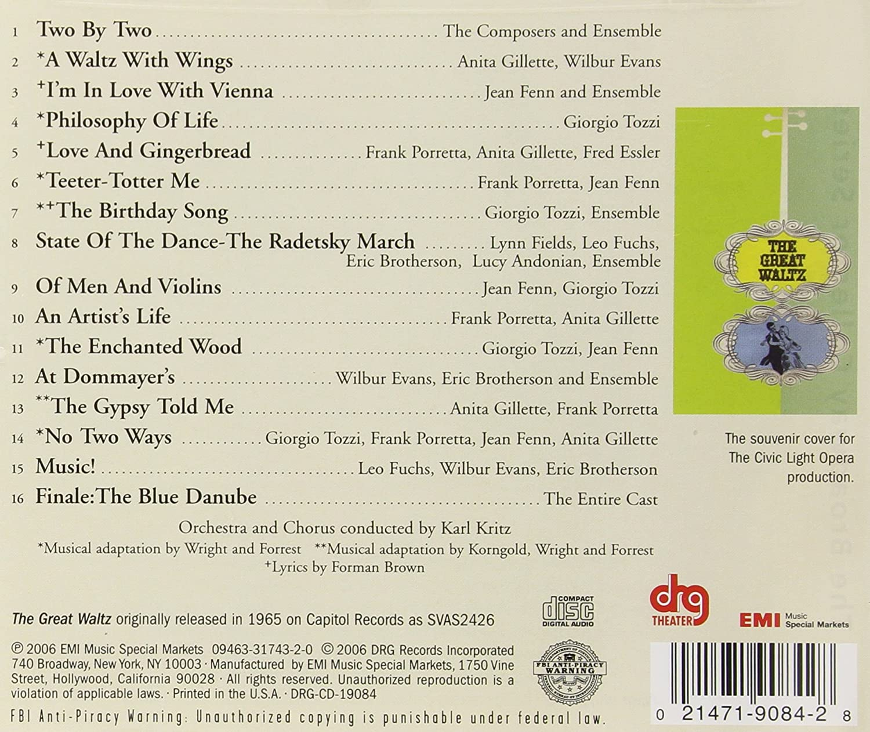 GREAT WALTZ / O.C.R - The Great Waltz (1965 Los Angeles Civic ...