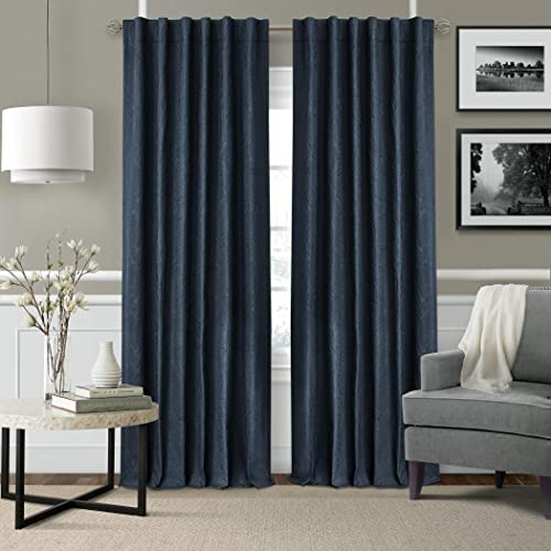 Elrene Home Fashions Leila Matelasse Single Blackout Window Curtain Panel