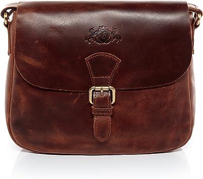 MATADOR Echt Leder Handtasche Damen Ledertasche Schultertasche mit RFID Schutz