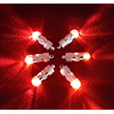SumDirect Pack of 12 LED Mini Blinking Lights For Paper Lanterns Balloons Floral Wedding Halloween Christmas Party Decoration Centerpieces (12, Red)