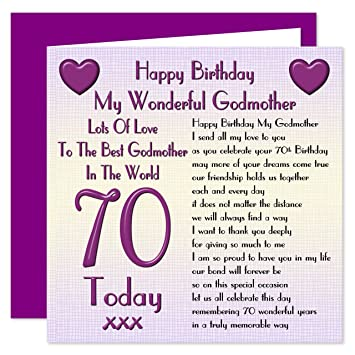 Godmother 70th happy birthday card lots of love to the best godmother 70th happy birthday card lots of love to the best godmother in the world bookmarktalkfo