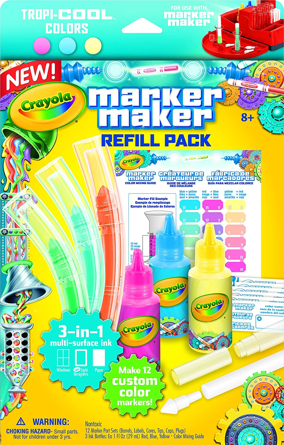 Amazon Com Crayola Marker Maker Refill Pack Makes 12 Custom Markers Ages 8 Up Toys Games