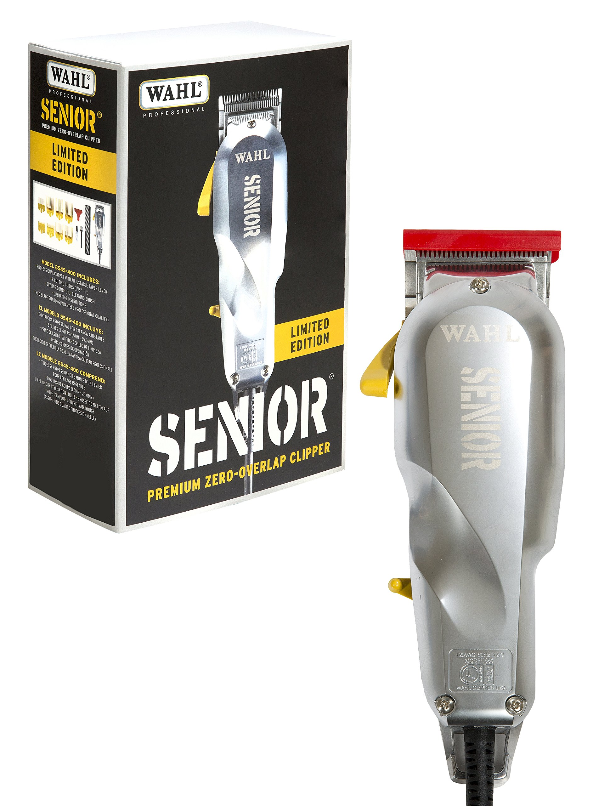 Wahl Professional Limited Edition Industrial Senior #8545-400 - Great for Professional Stylists and Barbers - Perfect for Heavy-Duty Cutting, Tapering, Fades, and Blends