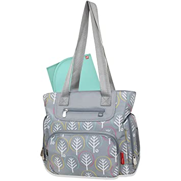 Fisher-Price Willow Diaper Tote 3 Piece Set, Grey