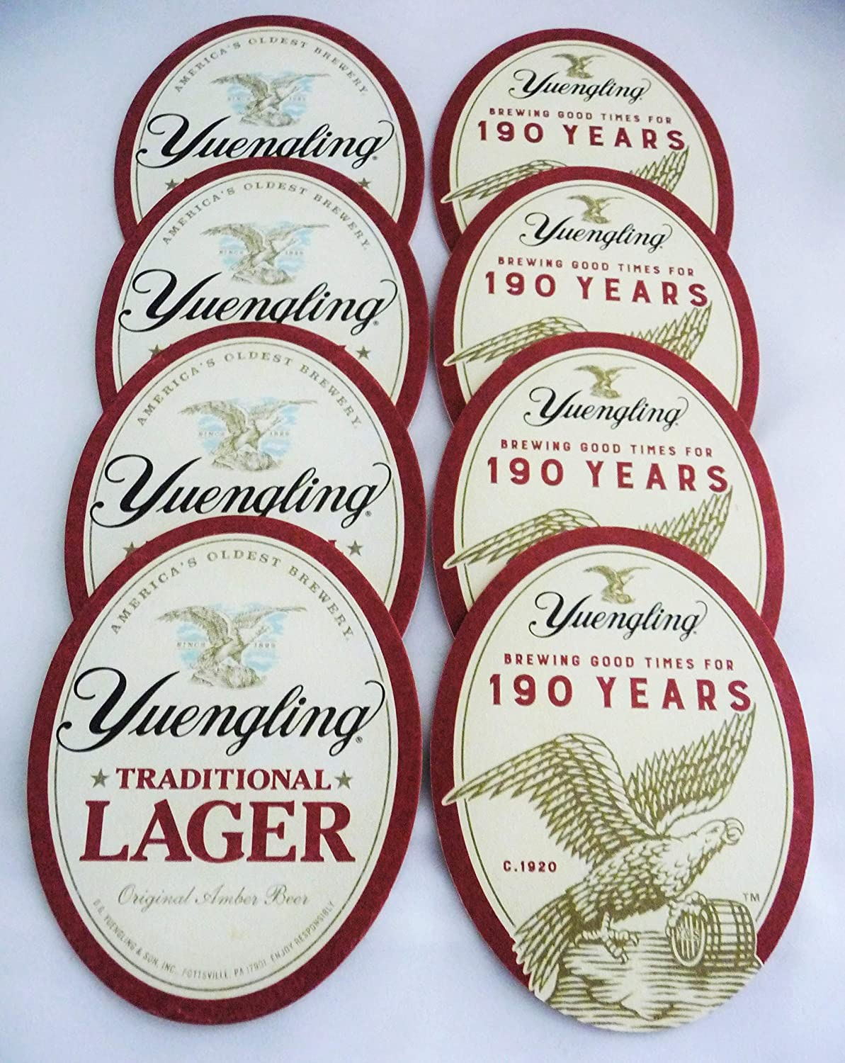 Yuengling Beer Coaster Set - Yuengling Traditional Lager/Set of (8) Eight