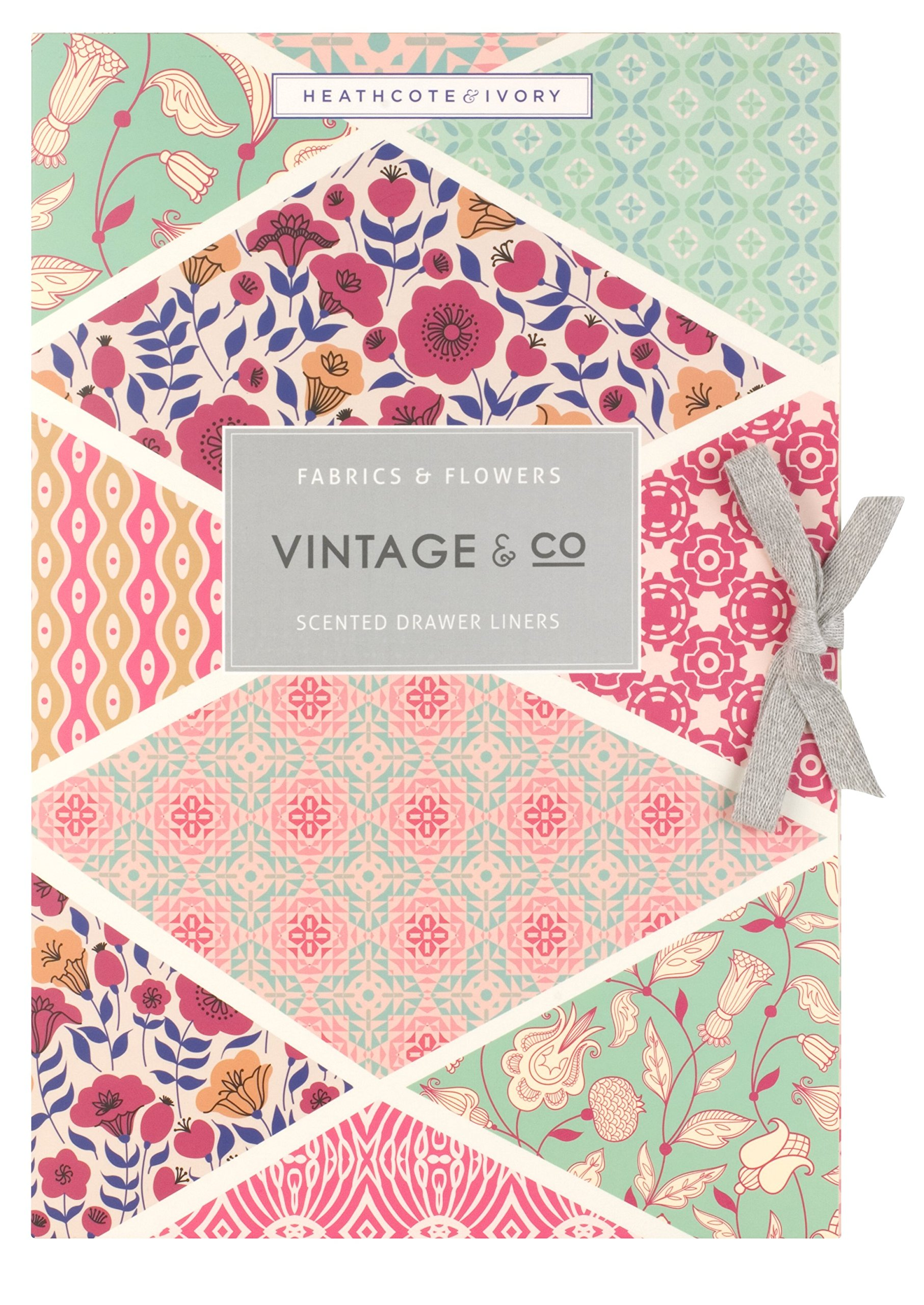 Vintage & Co Fabric & Flowers Scented Drawer liners (Pack of 6) ...